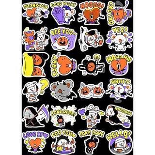PO bts bt21 halloween sticker