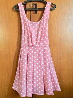 Saturday Dress Dusty Pink Polka Dot Dress