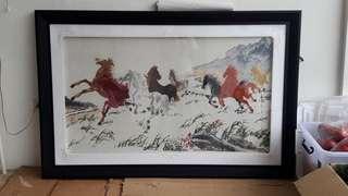 3x5 Feet Wall frame Cross-Stitch horse NEGOTIABLE RUSH!!!
