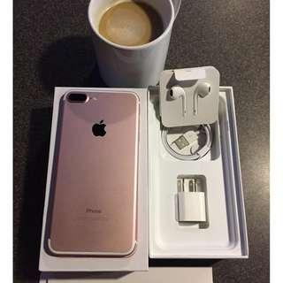 IPhone 7Plus 128gb Rosegold Openline & Complete.