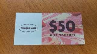 Haagen - Dazs $50 Gift Voucher / coupon