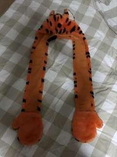 Tigger Hood Scarf with Mittens
