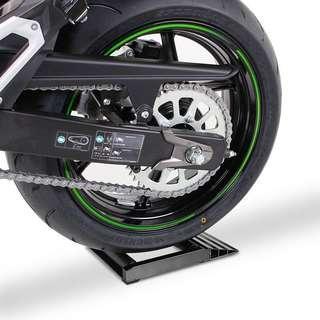 Motorcycle wheel jockey tyre spinner chain cleaner