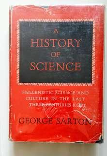 [Vintage Book] A History of Science (1959 edition, 1st Edition, Harvard University Press) 中古書藉