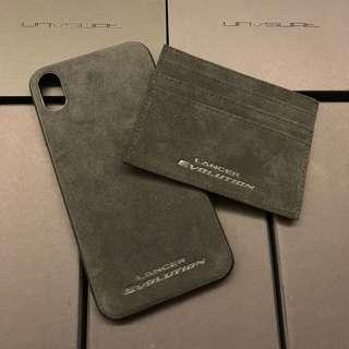 Alcantara iPhone XS MAX lancer evolution casing and card holder