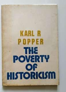 [Vintage Book] The Poverty of Historicism, by Karl Popper (unknown edition) 中古書藉