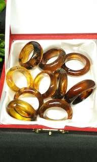 Genuine Amber Rings for men