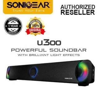 SonicGear U300 Powerful Sound Bar with Brilliant Light Effects