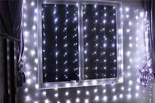 🚚 LED Curtain Fairy Lights 3x2meter battery operated