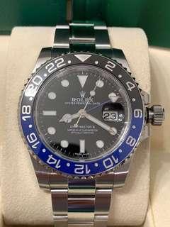 Excellent condition Mar 18 GMT-Master II 116710BLNR Batman