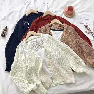 Knitted Cardigan Sweater Outerwear Korean Ulzzang