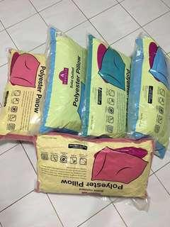 Polyester Pillow (Blue & Pink)