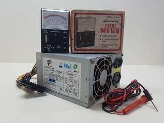 Power Supply + Multitester