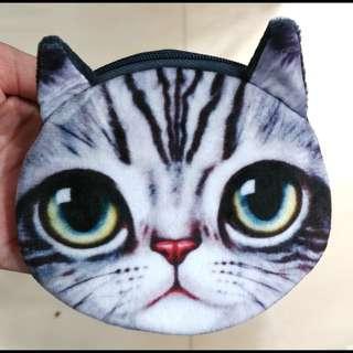 大眼貓貓散紙包#有拉鏈#只有一面有圖案#2款#兩邊都有小許綿,不是很薄~