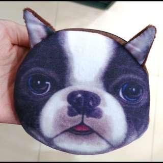 狗狗散紙包#有拉鏈#只有一面有圖案#2款#兩邊都有小許綿,不是很薄~
