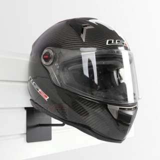 Motorcycle Helmet rack display for riders wall