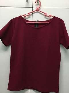 Red elegant top