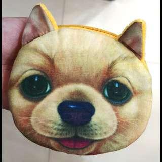 可愛狗狗散紙包#有拉鏈#只有一面有圖案#2款#兩邊都有小許綿,不是很薄~
