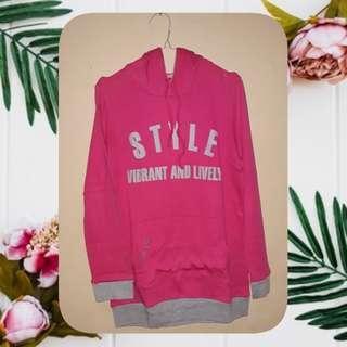 Chic Girl Hoodie Pink Grey