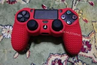 PS4 Premium Silicone Case: Red Red Merah Menyala Semangat Waja