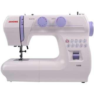 Janome 1008 sewing machine for rental/ hourly charges/ friendly environment