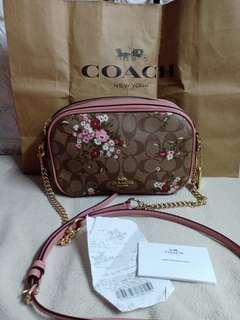 authentic coach floral pink crossbody bag not mk,ks,dooney,dkny,lv lacoaste