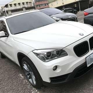 2013年 白 BMW X1 全景黑內裝 M包快撥 開價超便宜!!挑戰全台最低價