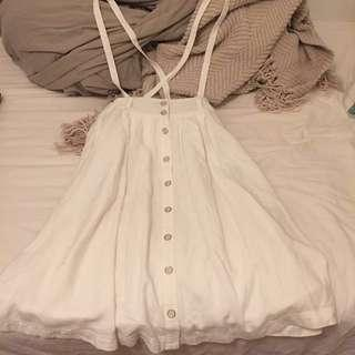 OREO shake古著 白色吊帶裙