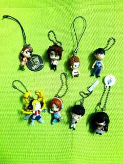 Assorted Anime Keychains & Charms (8 in 1)