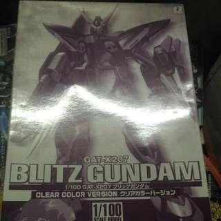 全新 1比100 閃電高達 Blitz Gundam 彩色透明版