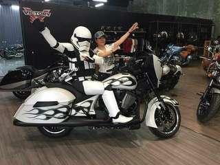 Starwars motorbike helmet stormtroopers helmet with DOT Approved