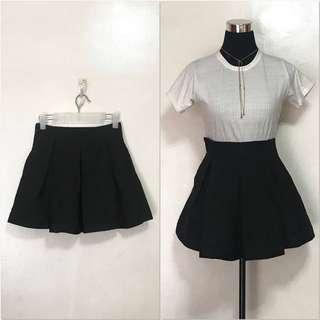 Z'DORZI Black Pleated Mini Tennis Skirt