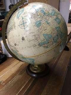 人手製地球儀