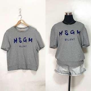 MSGM Milano Embroidered Gray Shirt Top