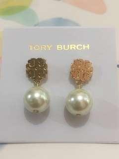 Tb earrings 金logo 吊珠耳環