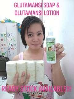 GLUTAMANSI SOAP & GLUTAMANSI LOTION