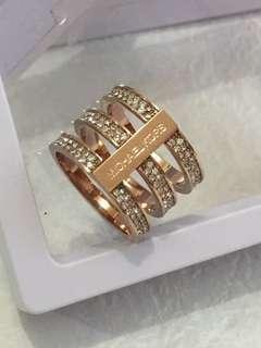 Micheal Kors Rosegold colour ring