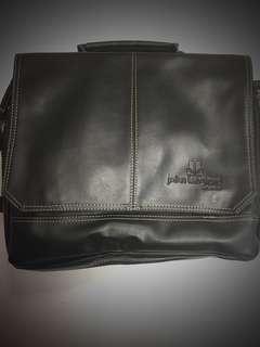 John Langford London leather sling bag