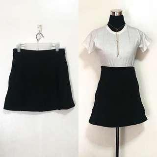 MAPLE Ruffle-Lined Black Skirt