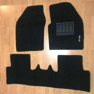 TOYOTA C-HR OEM FITMENT CAR FLOOR MAT..PVC COIL MAT 3 PCS COLOR AVAILABLE - BLACK RED,GREY ,BEIGE ,BROWN & BLUE...