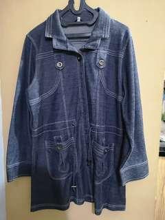 Baju Wanita Grey Denim Second