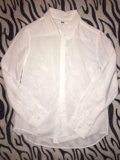 White Long Sleeves Polo