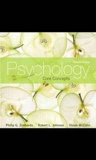 Hp1000 Introduction to Psychology (7th edition core concepts)