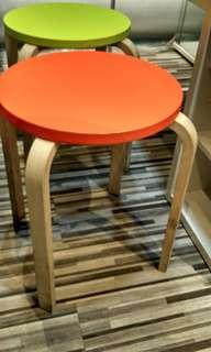 Kursi IKEA 2 buah Hijau&Orange