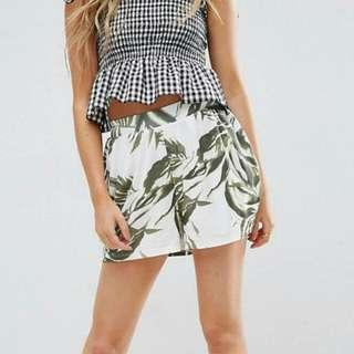 🚚 ASOS Culotte Shorts In Palm Print