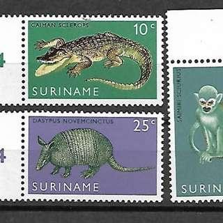 蘇里南郵票1968年動物 3全新