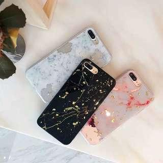 Glittered Marble iPhone Casing