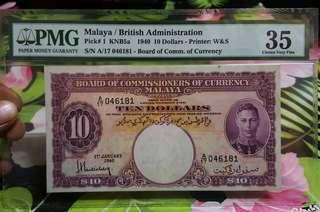 $10 kgvi Malaya emergencies issue 1940