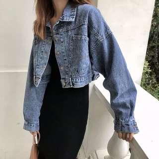 🚚 Denim crop jacket