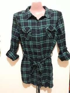 Preloved Stripes Green blouse